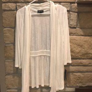 NWT AB Studio White/Sheer Cardigan. Size M